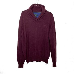 Henry Cotton's Wool Shawl Neck Pullover Sweater
